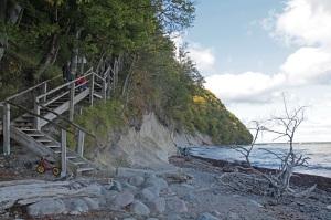 412 steps down to the beach from Königsstuhl - Island of Rügen