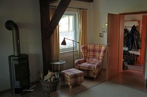 Kamin im Wohnzimmer unseres Ferienhauses auf Rügen - Mölln 2