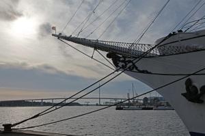 Gorch Fock I - Stralsund Harbour - Rügenbrücke