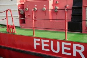 Fire brigade ship in Stralsund