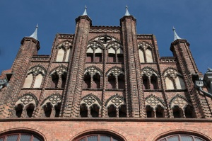 Stralsund - Wulflamhaus, 14th century, another Gothic building on the Alter Markt