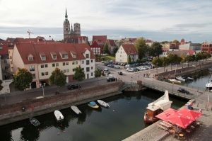 View of part of the city from the roof of the Ozeaneum - Stralsund