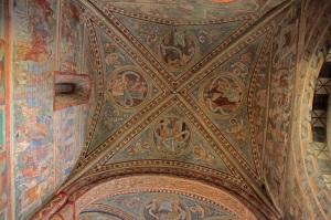 Marienkirche in Bergen auf Rügen - Romanische Wandmalereien
