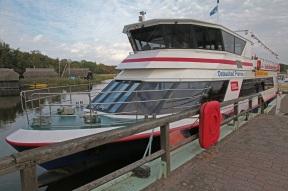 Unser Ausflugsboot zur Kranichbeobachtung in Prerow