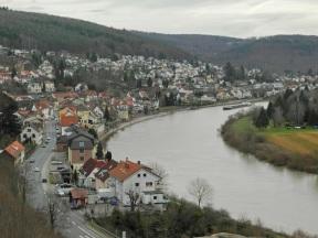 Neckarsteinach am Neckar (von der Hinterburg aus)