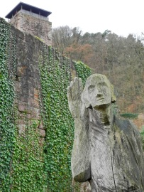 Statue of the Listening Man, Hinterburg, Neckarsteinach
