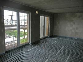 Wohnzimmer - Fußbodenheizung ist bereits verlegt