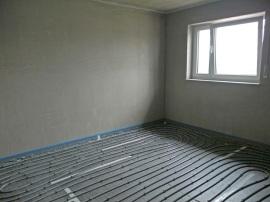 Schlafzimmer - Fußbodenheizung ist bereits verlegt