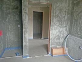 Badezimmer und Duschecke Anfang Oktober - Estrich ist verlegt