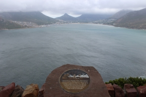 View from Chapman's Peak Drive over Hout Bay south of Cape Town, South Africa