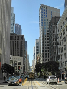 San Francisco Jackson Street Ecke front Street, Cable Car