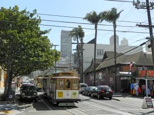 Cablecar in San Francisco, Taylor Street Kreuzung San Francisco Street