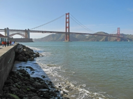 Golden Gate Bridge vom Marine Drive aus