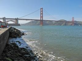 Golden Gate Bridge vom Marine Drive aus