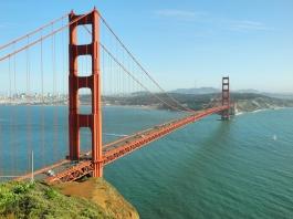 Golden Gate Bridge und San Francisco (von Battery Spencer aus)