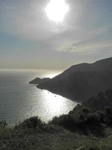 Kirby Cove vom Aussichtspunkt Battery Spencer an der Golden Gate Bridge aus