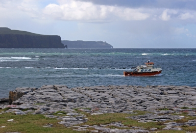 Excursion boat - Doolin Harbour - Cliffs of Moher - County Clare, Ireland