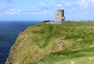 O'Brien's Tower at the highest point of the Cliffs of Moher in County Clare, Ireland