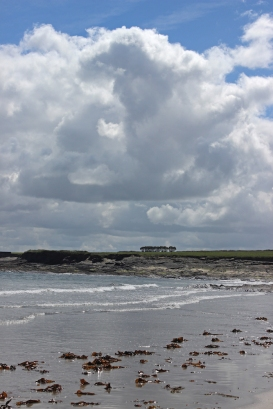 Strand and clouds at Spanish Point, County Clare, Ireland