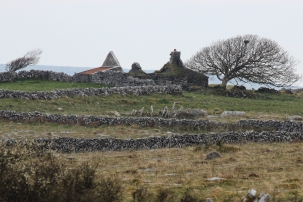 Ruins from the L1014 between Carron and Bellharbour, County Clare, Ireland