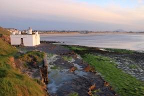Cliff Baths and sandy beach in Enniscrone, County Sligo, Ireland