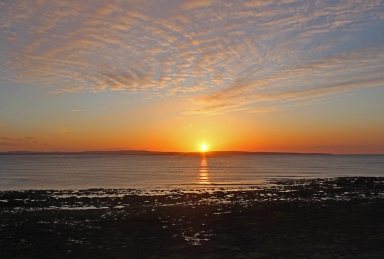 Sunset at Enniscrone Beach, County Sligo, Ireland