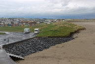 Sandy beach in Enniscrone, County Sligo, Ireland
