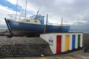 Boat at the harbour in Enniscrone, County Sligo, Ireland