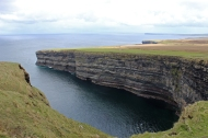 View from a platform built on a cliff across the road from Ceide Fields, Ballycastle, County Mayo, Ireland
