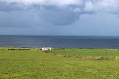 Coastline close to Downpatrick Head in Mayo, County Ireland