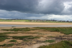 Dark clouds over a lovely strand called Lacken, County Mayo, Ireland