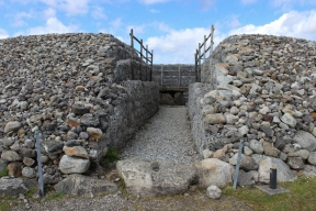 Carrowmore Megalithic Cemetry: Reconstruction of the central tomb (Listoghil, or Carrowmore 51, or Tomb 51), County Sligo, Ireland