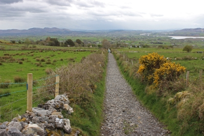 View back from the path to Knocknarea Mountain, County Sligo, Ireland