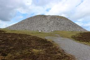 Queen Maeve's Tomb at the top of Knocknarea Mountain, County Sligo, Ireland