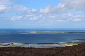 View from the top of the Knocknarea Mountain, County Sligo, Ireland
