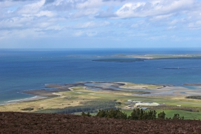 View from the top of the Knocknarea Mountain, County Sligo, Ireland