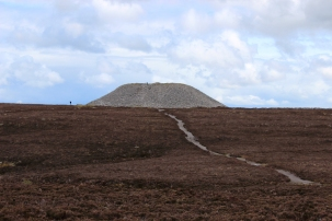 Queen Maeve's Tomb at the top of Knocknarea Mountain, County Sligo, Ireland