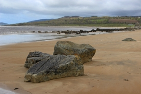 Donegal coast close to the mouth of the Crana river, which flows into Lough Swilly, County Donegal, Ireland
