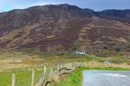 Mountains from the road to Fort Dunree, County Donegal, Ireland