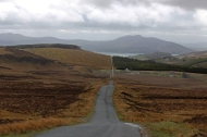 County Donegal between Fort Dunree and Clonmany - view back towards Lough Swilly, Ireland