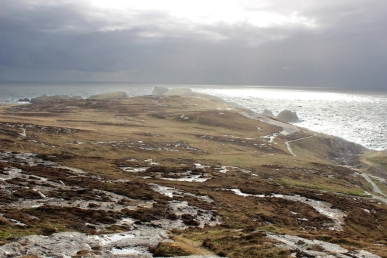 Banba's Crown on Malin Head is the most northerly point of the Irish mainland - Inishowen Peninsula, County Donegal, Ireland