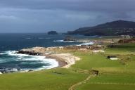 Beach at Malin Head (Irish: Cionn Mhálanna) on the Inishowen Peninsula, County Donegal, Ireland