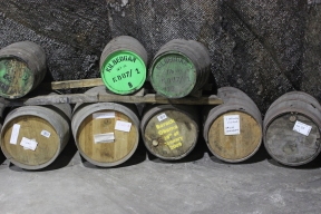 Kilbeggan Irish Whiskey Distillery - Filled Casks in the Warehouse