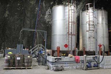 Kilbeggan Irish Whiskey Distillery - Cask Filling Station in the warehouse