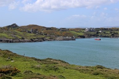 The Yoker Swan arriving at Sherkin Island - Ruins of Sherkin Island Abbey - Ireland