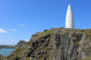 Baltimore Beacon is a white-painted stone beacon at the entrance to the harbour at Baltimore, County Cork, Ireland