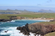 The villages of Ballyferriter and Ballydavid with the Three Sisters, Dingle Peninsula, Ireland
