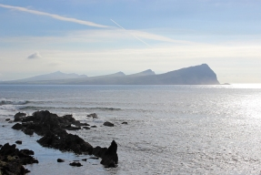 View at the Three Sisters from the Old Pier close to Ballydavid - Dingle Peninsula - Ireland