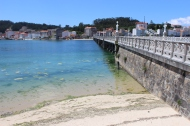 Bridge between O Grove and Isla de la Toja, Galicia, Spain