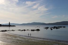 Strand before our Hotel Pazo los Escudos in Vigo, Galicia, Spain